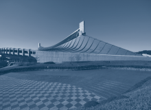 Kenzo Tange's National Gymansium in Yoyogi was built for the 1964 Tokyo Olymipcs