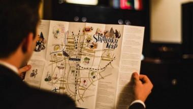 Shinjuku area map from Park Hyatt Tokyo