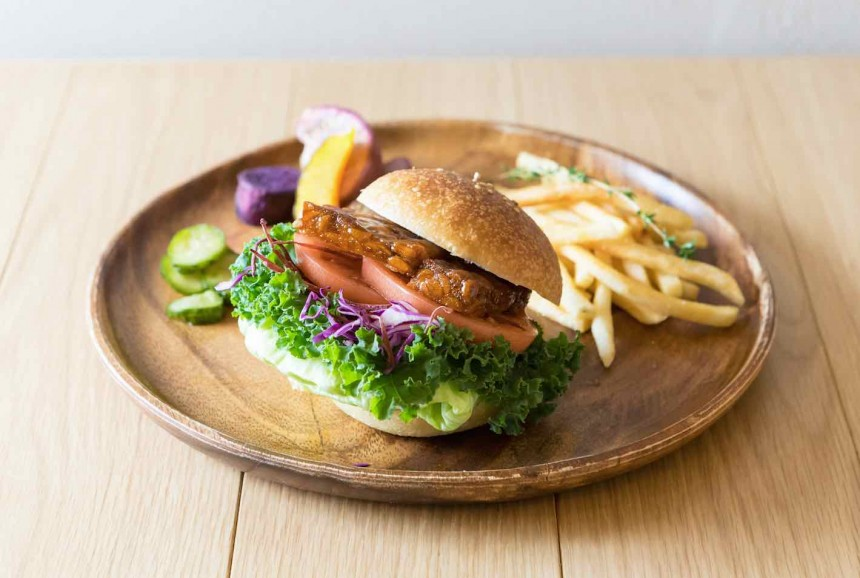 teriyaki veggie burger Tokyo