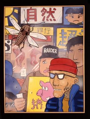Rob Judges Tokyo 1999 art exhibition Nakameguro