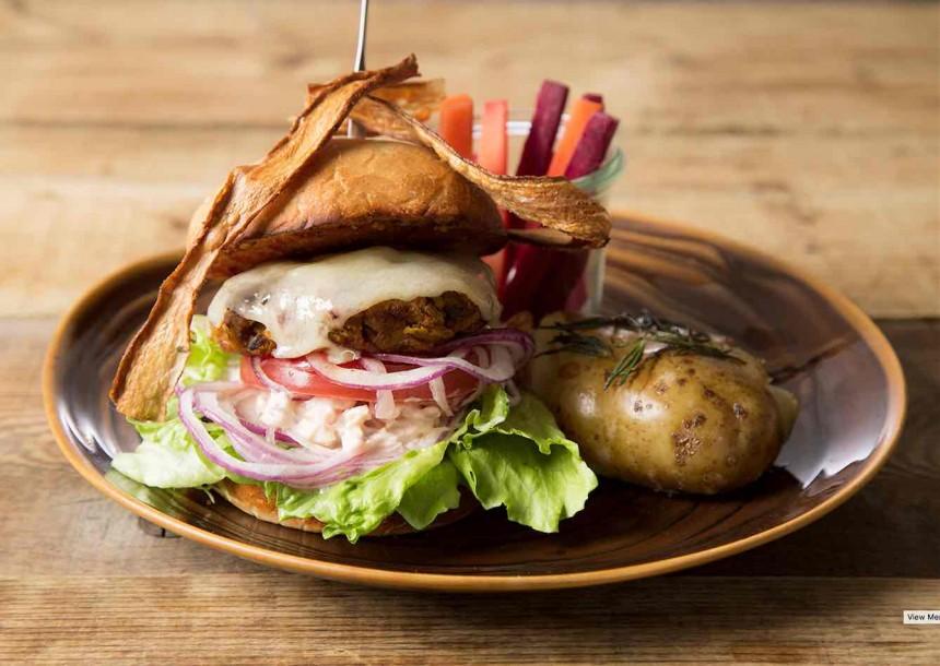 Mr Farmer burdock vegan burger