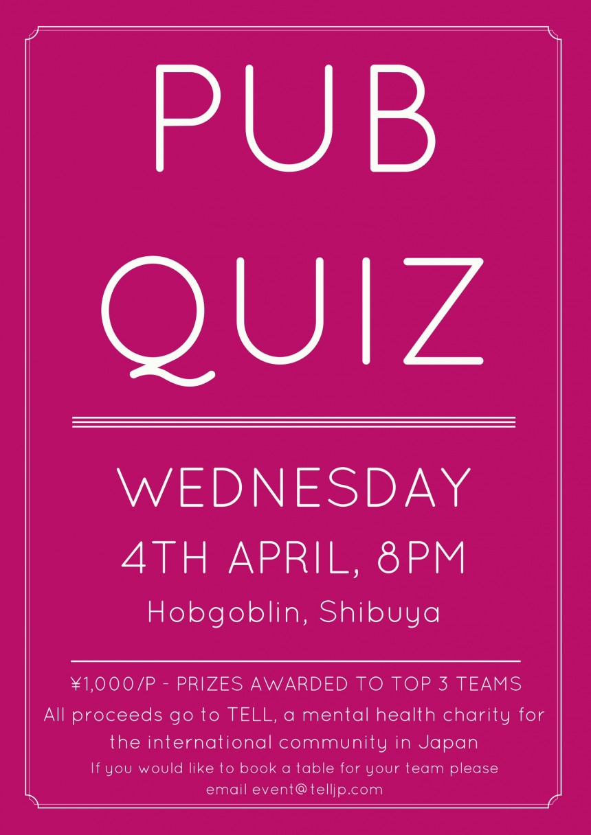Pub Quiz for Charity