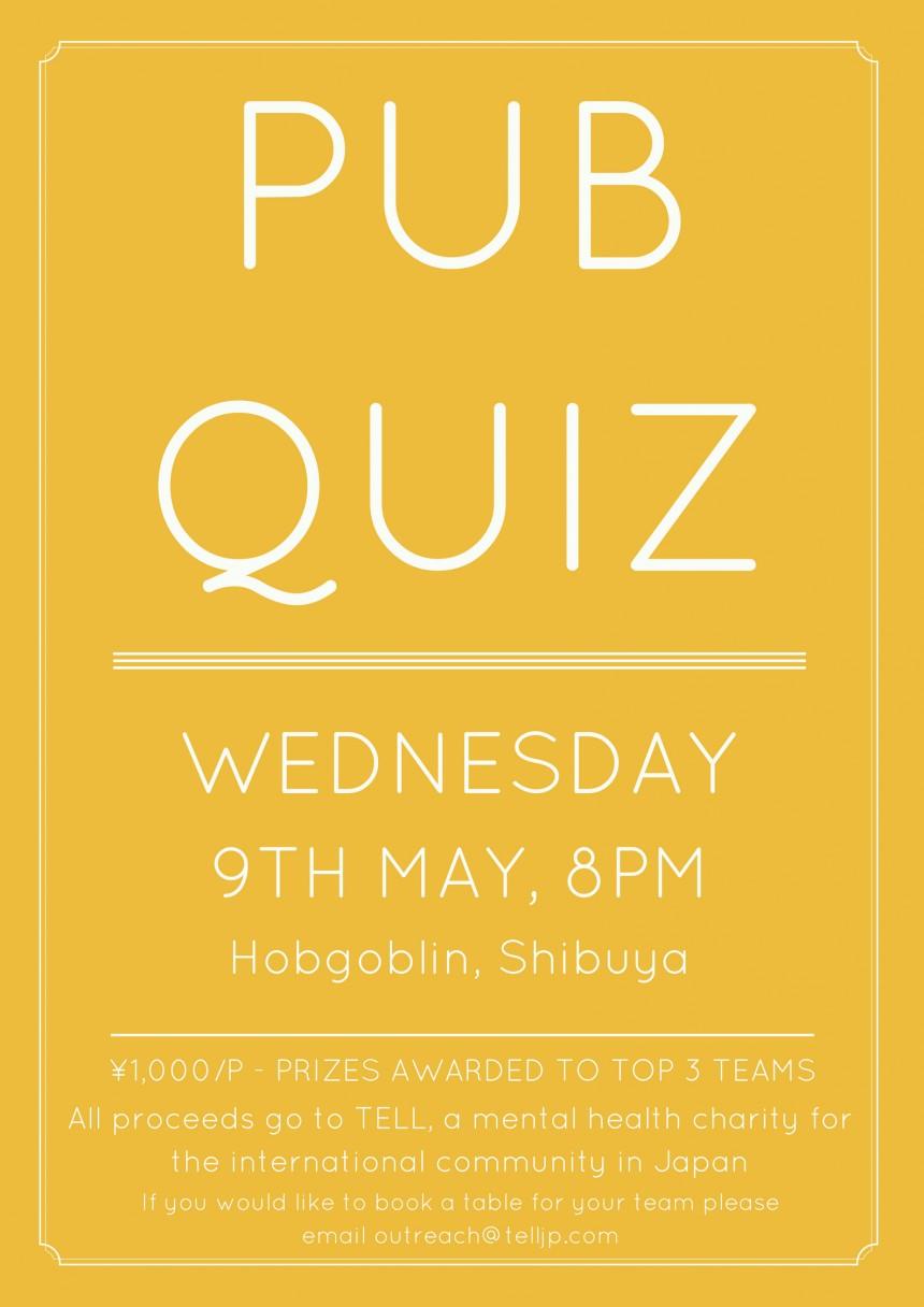 TELL May pub quiz