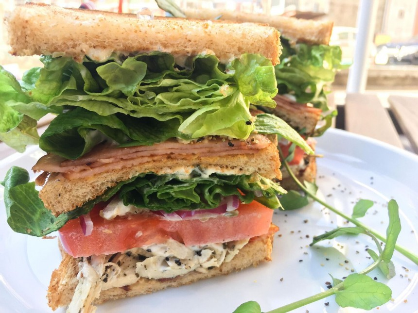 and sandwich (clubhouse)
