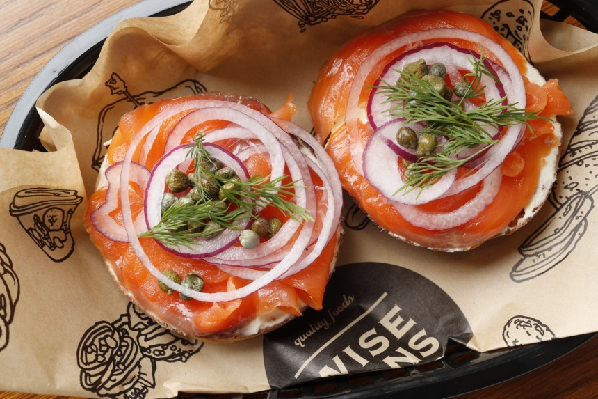 wise sons salmon toast capres
