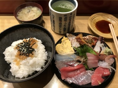 Kaisen don fish raw lunch
