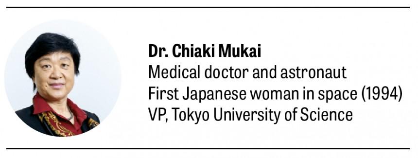 Chiaki Mukai Nobel Prize Space Food Astronaut Future Japan