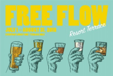 RESORT TERRACE FREE FLOW Drinks Craft Beer T.Y. Harbor Summer