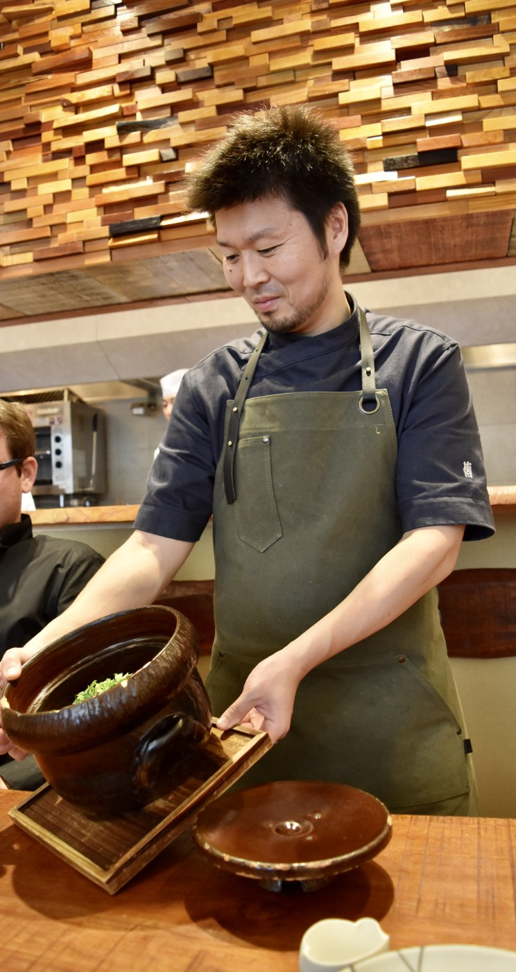 Emi Hasegawa den restaurant kaiseki jingumae shibuya