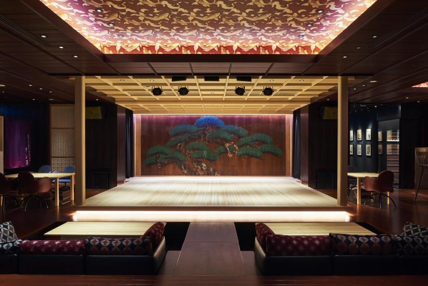 Suigan Traditional Theatre Kyogen Noh Bunraku Nihonbashi Restaurant Culture Show