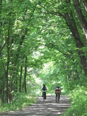Cycling in Asahidake in Higashikawa Central Hokkaido