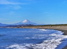 Shonan Best Beach Tokyo Day Trip Chigasaki View of Mt. Fuji Surfing