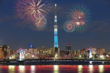 Sumida Fireworks Festival SkyTree View