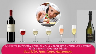 Exclusive Burgundy Premier Cru Wines & Champagne Grand Cru Dinner