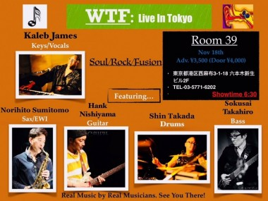 Kaleb James WTF Tokyo Live Music Jazz Soul Pop