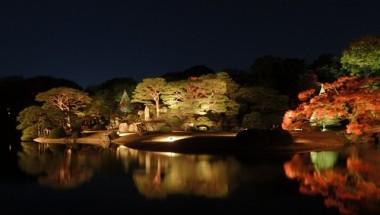 Autumn Illuminations at Rikugien park
