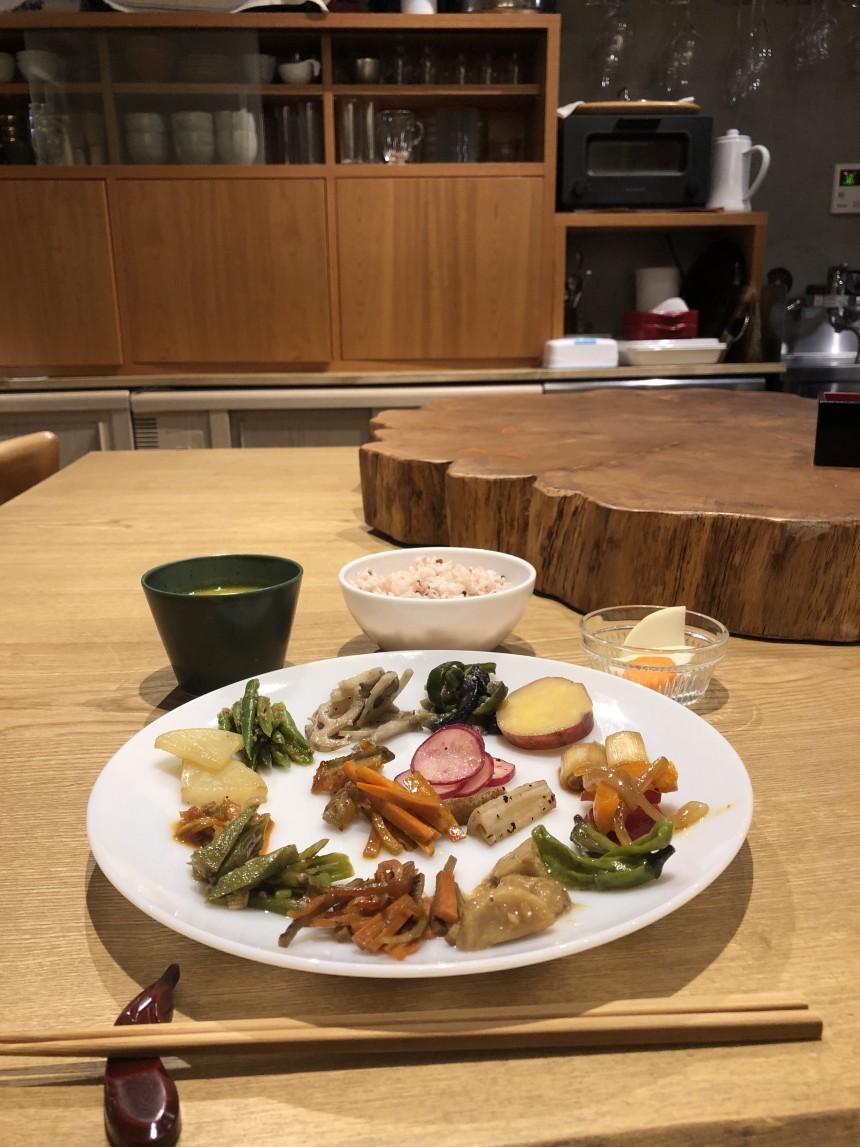 lunch at Yukisukinokuni vegetarian Tokyo vegetable vegan