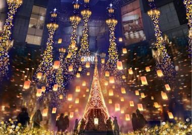 Christmas 2018 Illumination Tangled Disney Illumination Caretta Shiodome