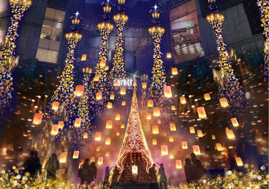 Christmas 2018 Illumination Tangled Disney Illumination Caretta Shiodome