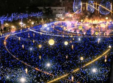 Christmas 2018 Illumination Roppongi bubble bright effects