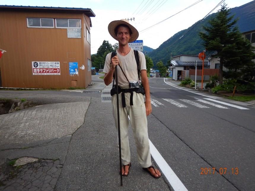 Peter Orosz: At the Human Pace walk Japan trip life hat