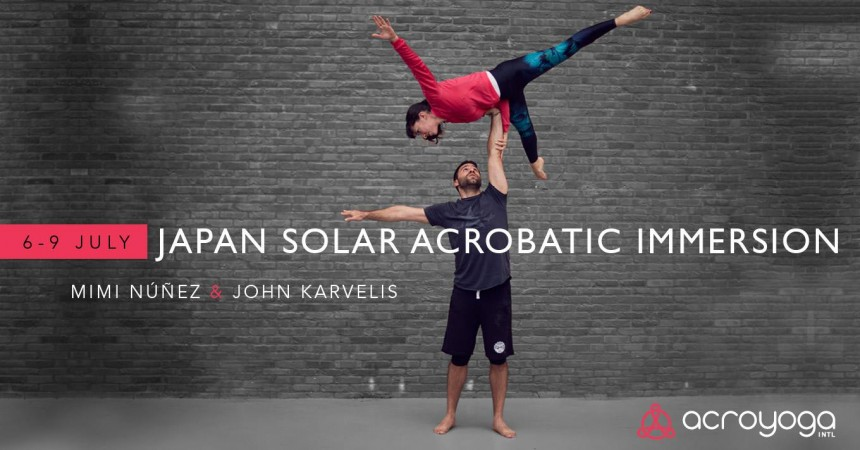 Japan AcroYoga Solar Acrobatic Immersion