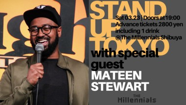 Millennials Comedy Show: International Headliner Mateen Stewart USA Los Angeles Shibuya Comedian