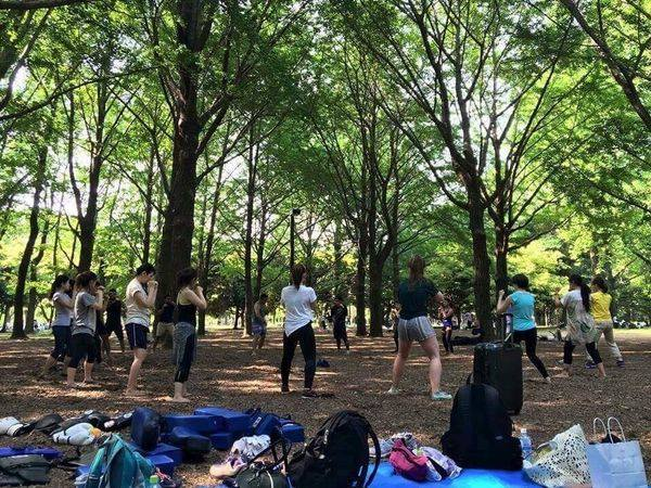 kickboxing lesson Yoyogi Park