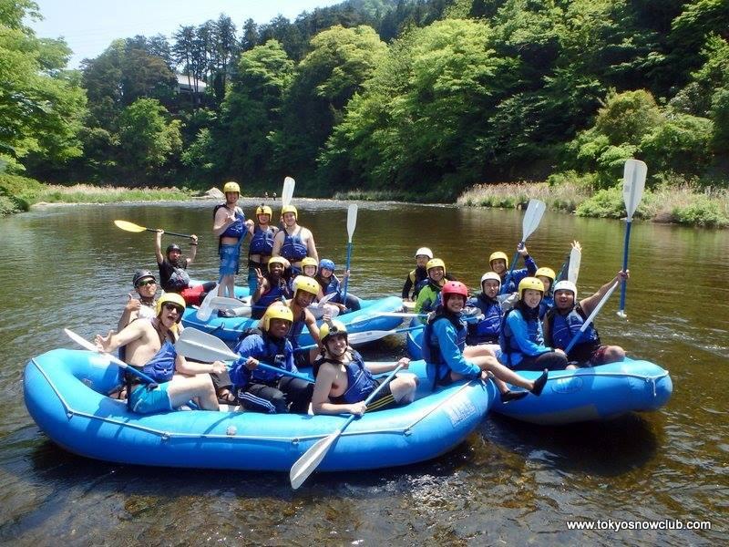 Golden Week Rafting Tama river Tokyo Snow Metropolis Japan