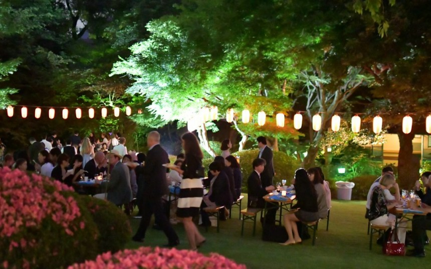 charity fund garden party german embassy tokyo metropolis japan