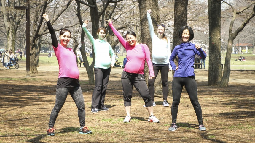 mom in balance tokyo anniversary yoyogi park workouts pregnancy community women julie mangen tanja kinnen pauline havens