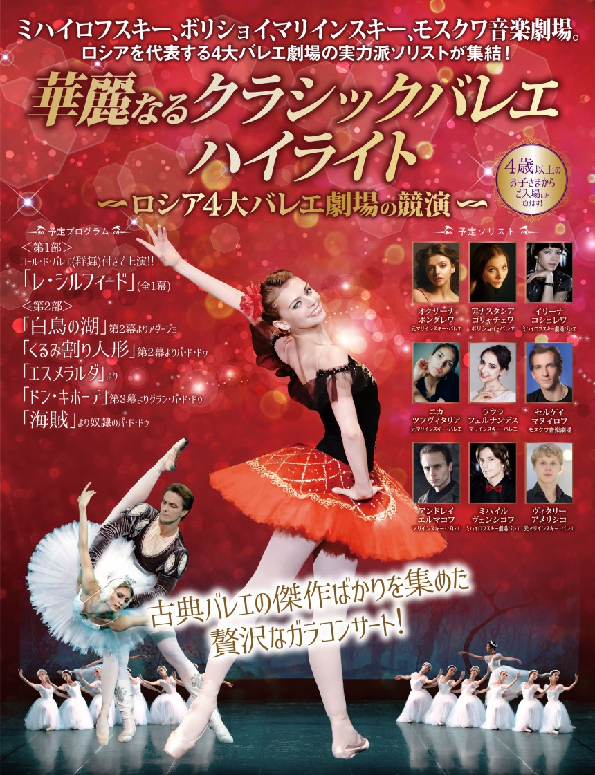 Highlights from the Classical Ballet Repertoire -Collaborated by The Four Great Russian Theatres- at NHK Osaka Hall