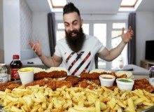 Beard Meats Food Adam Moran Competitive Eater Mukbang Eat Foodies Vlogger Youtuber