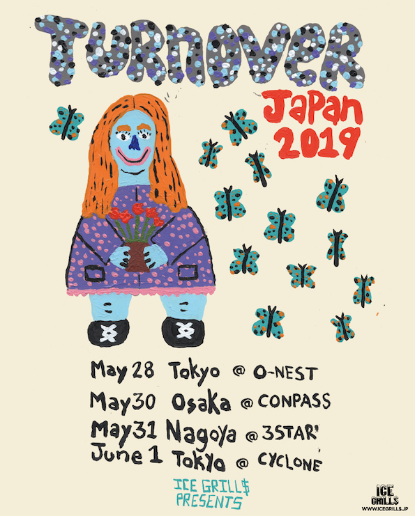 turnover Japan tour Shibuya gig