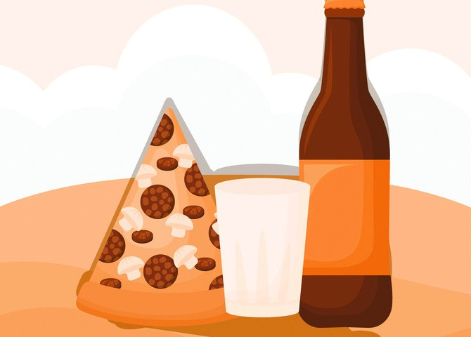 Beer and Pizza Special
