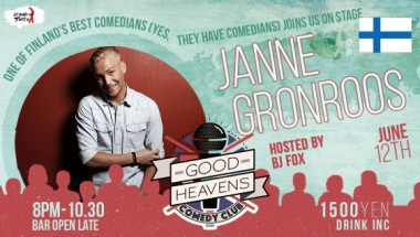 Good Heavens Comedy Club – ft. Janne Grönroos (Finland)
