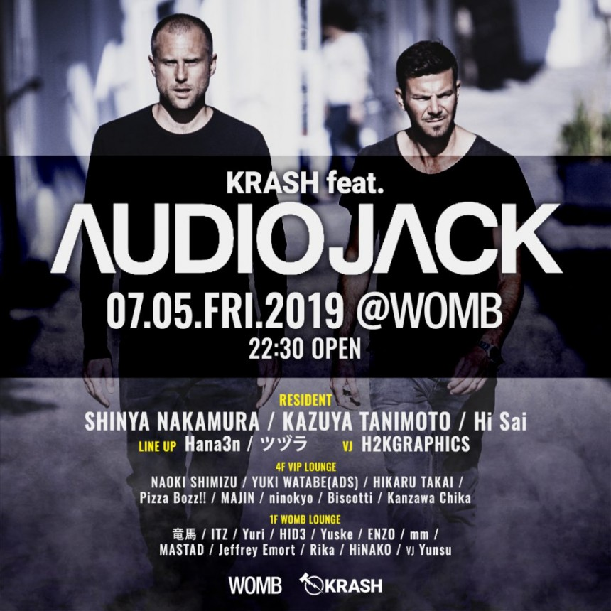 Krash feat. AudioJack Womb Tokyo club events tehcno music
