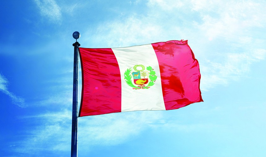 The-colourful-flag-of-Peru