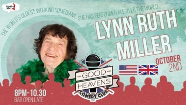 Lynn Ruth Miller – The World's Oldest Stand Up Comedian is coming to Tokyo!