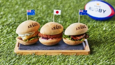 Rugby-Themed Sliders and Party Plan at Andaz Tokyo