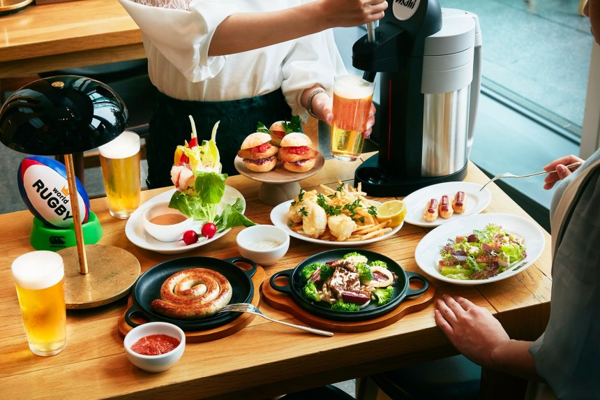 Rugby Themed Sliders and Party Plan at Andaz Tokyo Andaz Tokyo