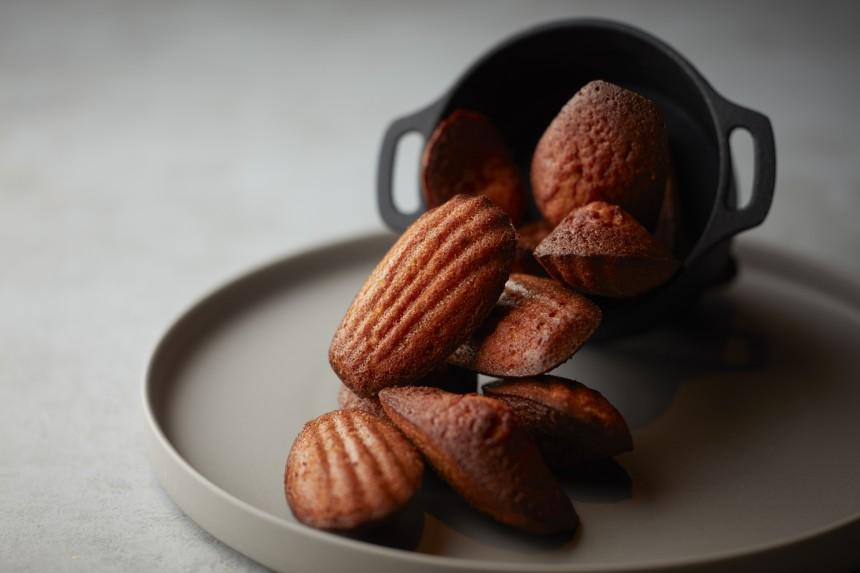 Savory miso madeleine
