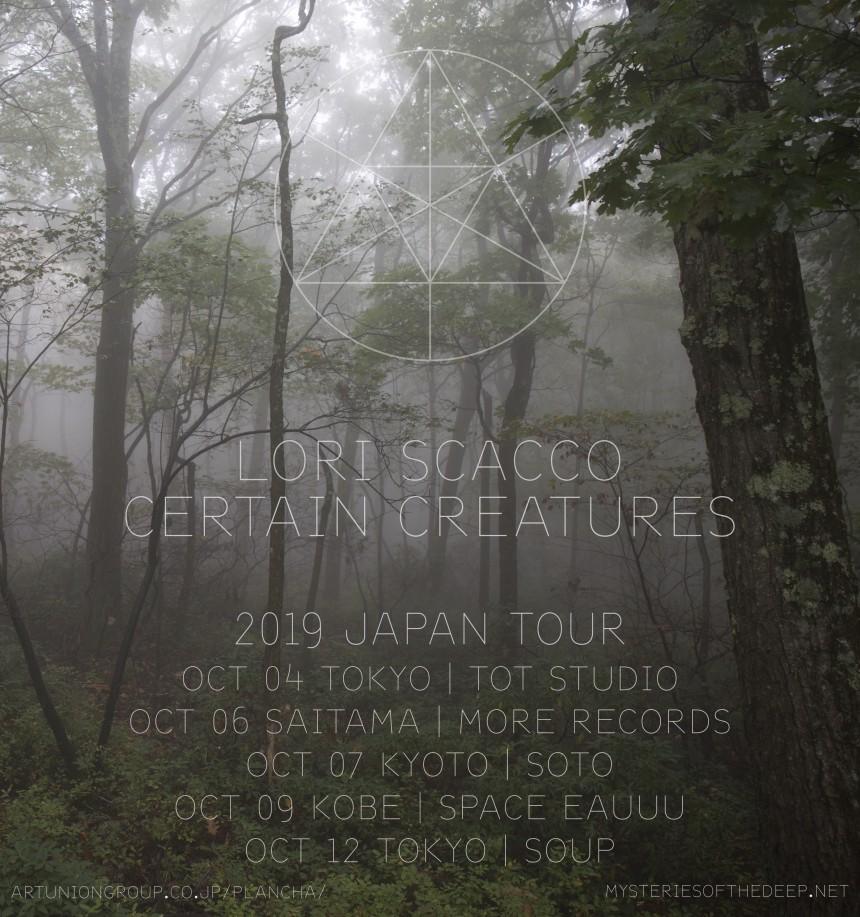 Lori Scacco & Certain Creatures Japan Tour 2019 Lori Scacco