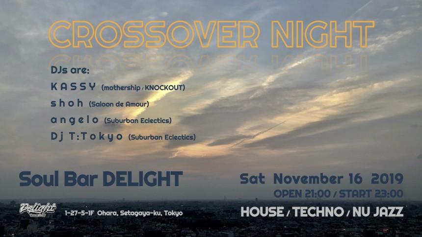 2019.11.16 CROSSOVER NIGHT event flyer