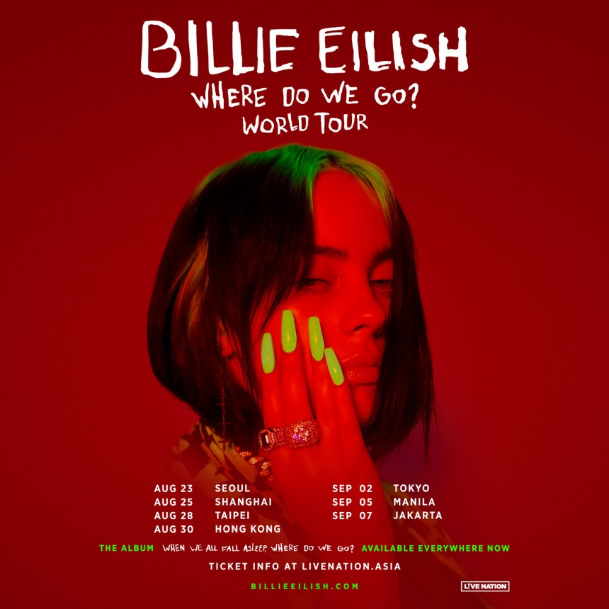 Billie Eilish When we all fall asleep, where do we go? Asia tour Yokohama Arena