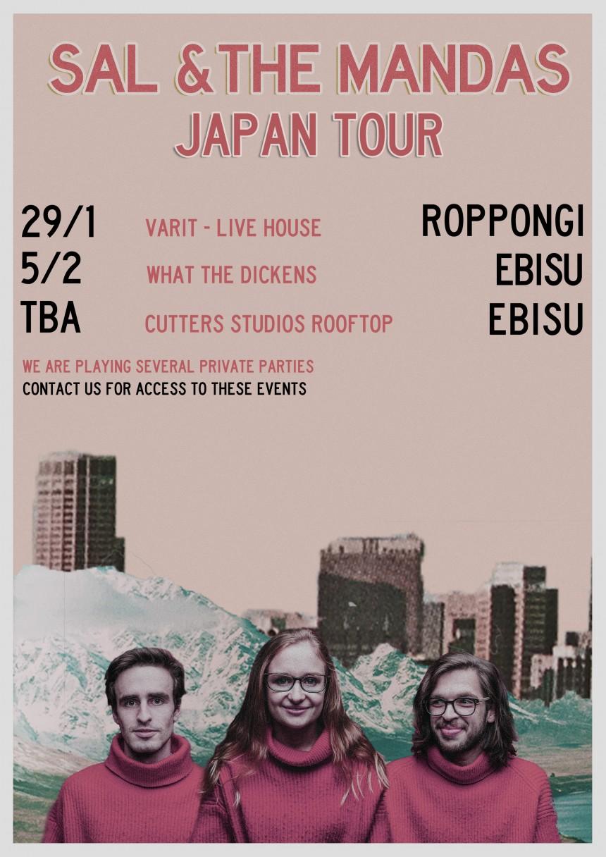 Sal & The Mandas Japan tour pop punk