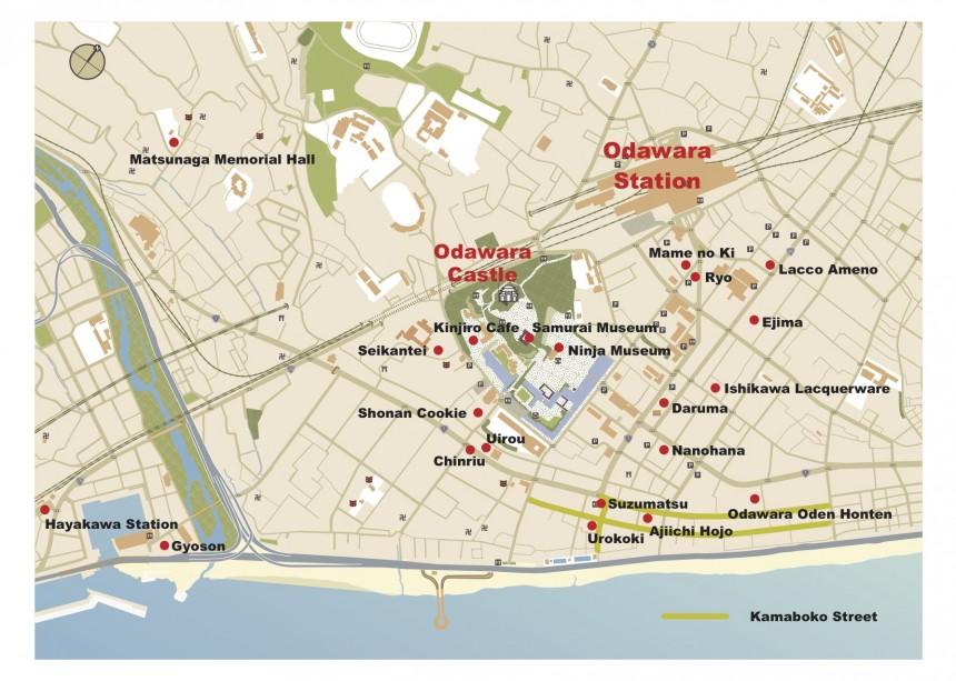 Discover Odawara map