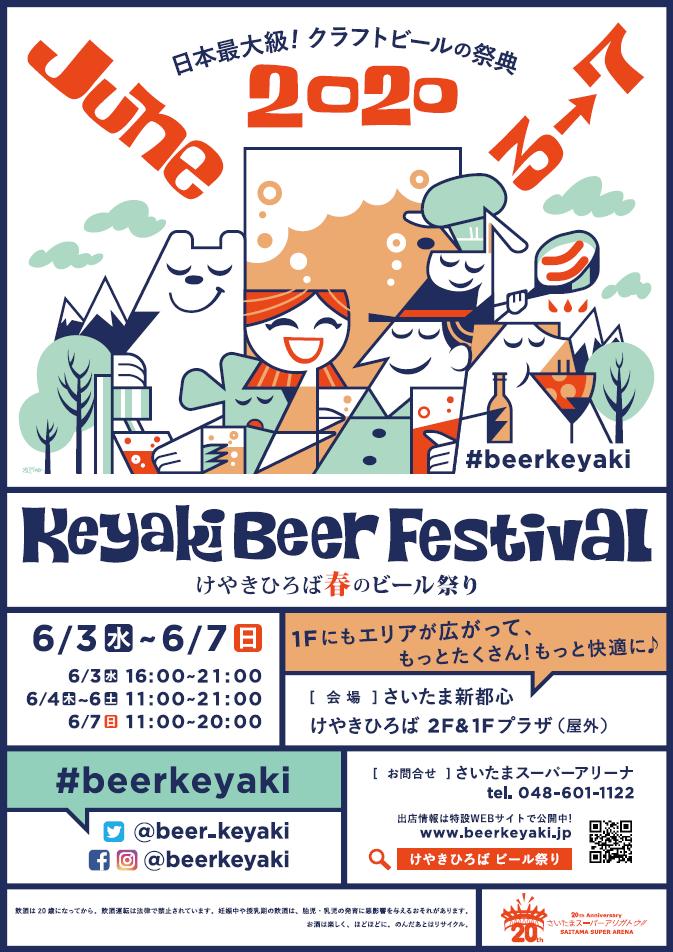 KEYAKI BEER FESTIVAL SAITAMA SHINTOSHIN 2020 SPRING
