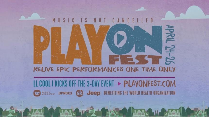 PlayOn Fest 2020 virtual concert worldwide covid-19 coronavirus pandemic coachella music festival youtube songkick