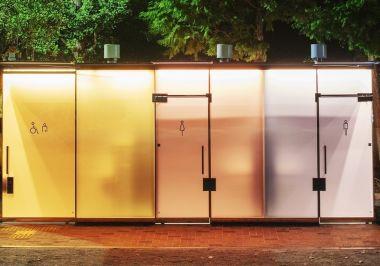transparent toilets public restroom architecture design Shigeru ban sou fujimoto architects the Nippon foundation Tokyo toilet project